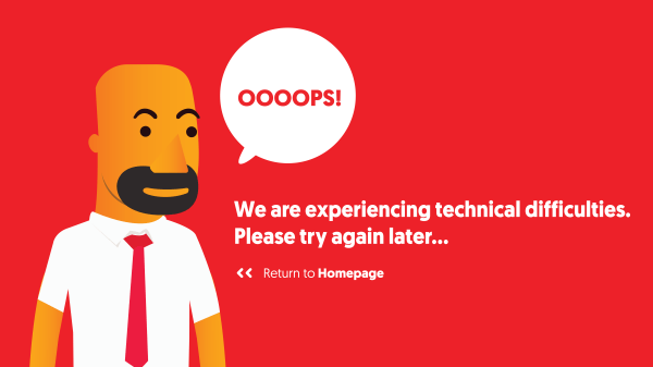 We are experiencing technical difficulties. Please try again later...